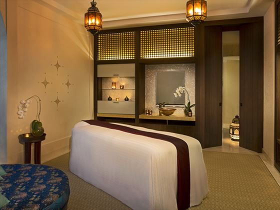 Spa treatment room at Ritz Carlton