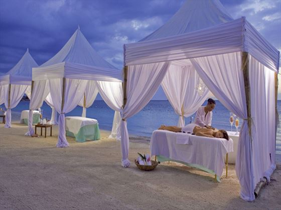 Spa treatments on the beach at Sandals Montego Bay