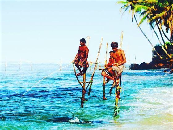 Sri Lanka fishermen, Galle