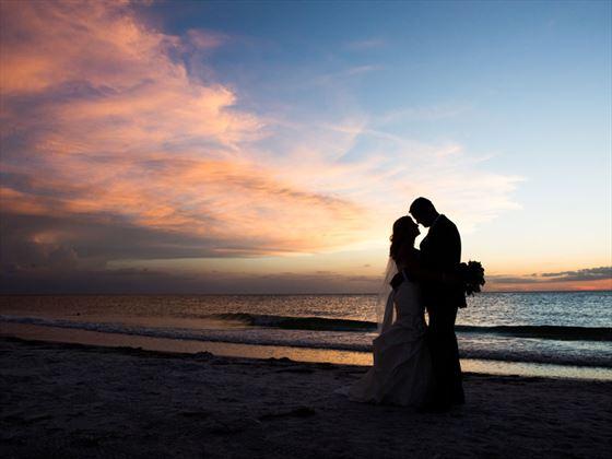 Lovers sunset at Sheraton Sand Key Resor