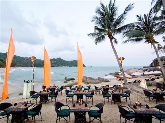 Stone Beach restaurant at Panviman Resort Koh Phangan Hotel