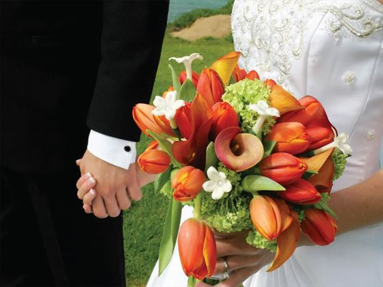 Wedding couple at the Sugar Cane Club Hotel & Spa