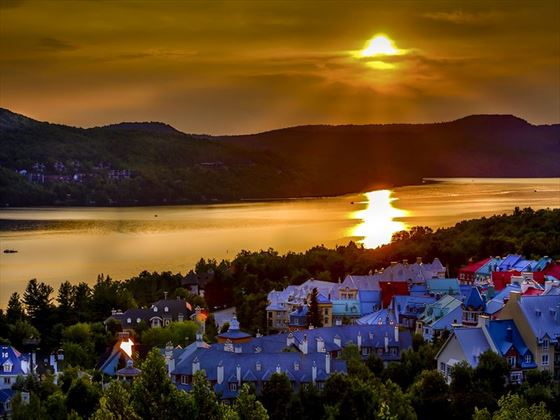 Summer sunset over Mont Tremblant