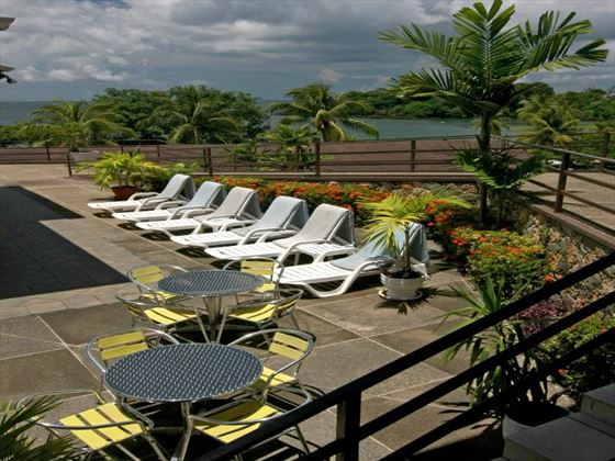 Sun deck area at Grafton Beach Resort