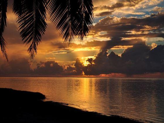 Sunset at Aitutaki
