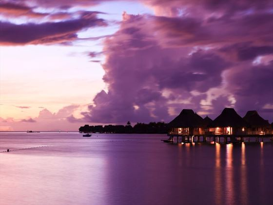 Sunset in Tahiti