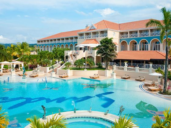 Swimming pool at Sandals Grande Riviera Beach & Villa Golf Resort