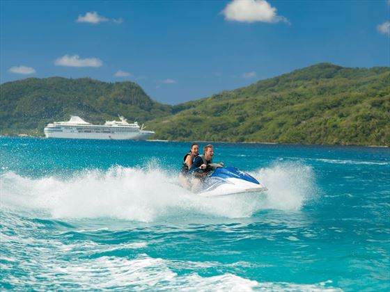 Jet skiing in Tahiti
