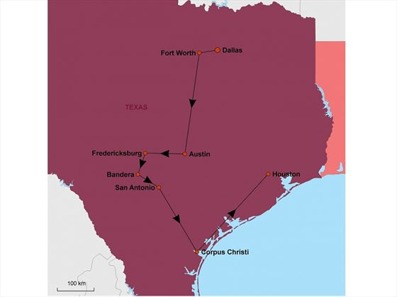 Talkin' Texan map
