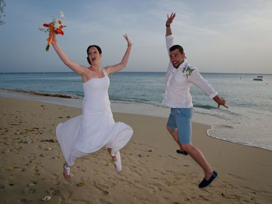 Wedding fun in Barbados
