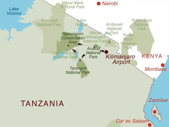 Taste of Tanzania Map