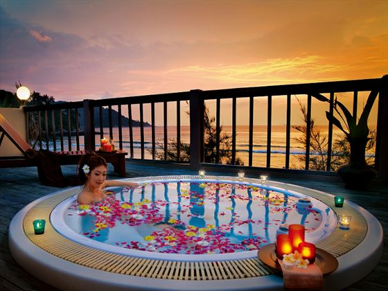 Tew Son Spa outdoor Jacuzzi at Katathani Phuket Beach Resort Hotel