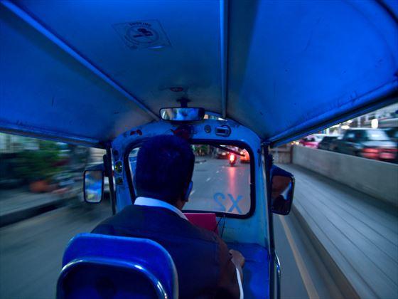 Viewing Thailand inside a tuk-tuk