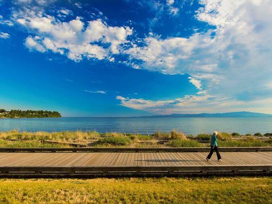 The Beach Club Resort boardwalk