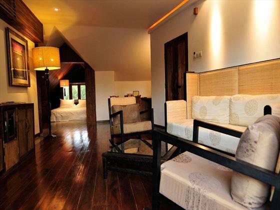 The Loft living room at Villa Samadhi
