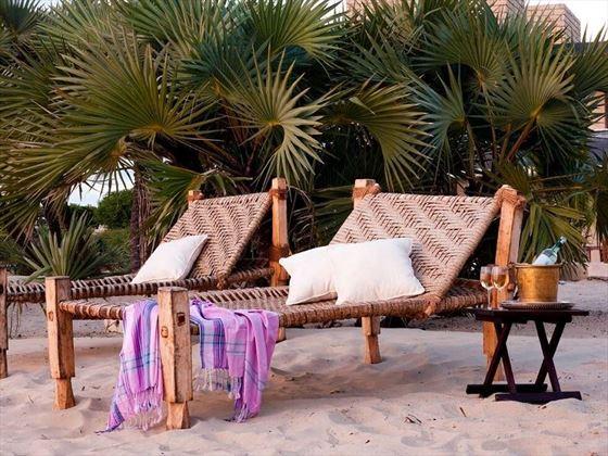 The Majlis beach area
