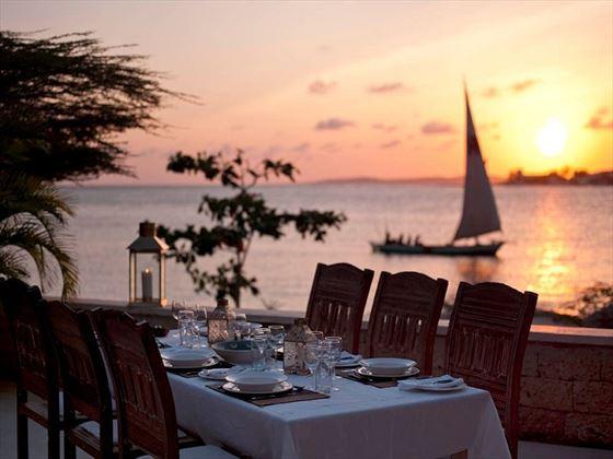 Dinner at sun set