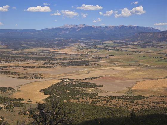 The Mesa Verde National Park landscape