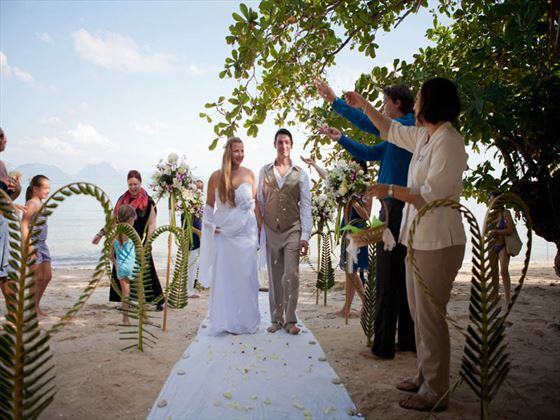 Western style wedding, The Paradise Koh Yao