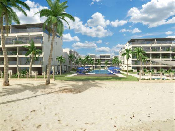 Artist's impression of the Sands Barbados beach