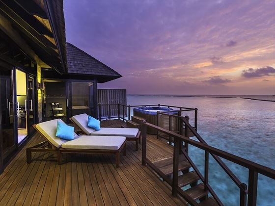 The Sun Siyam Iru Fushi Horizon Water Villa terrace