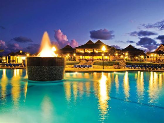 The Verandah Resort & Spa exterior view at night
