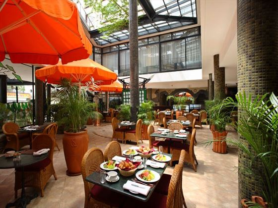 Thorn Tree Pavement cafe at Sarova Stanley