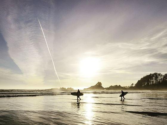 Surfers at Tofino
