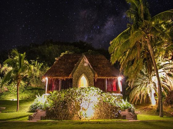 Tokoriki's chapel at night