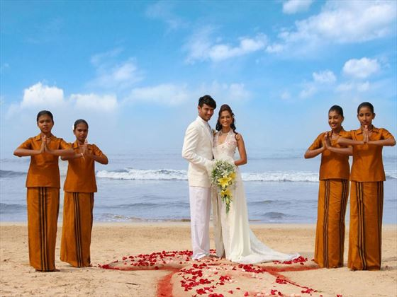 Authentic Sri Lankan wedding ceremony