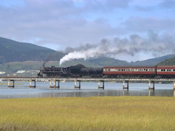 Train over Knysna Lagoon