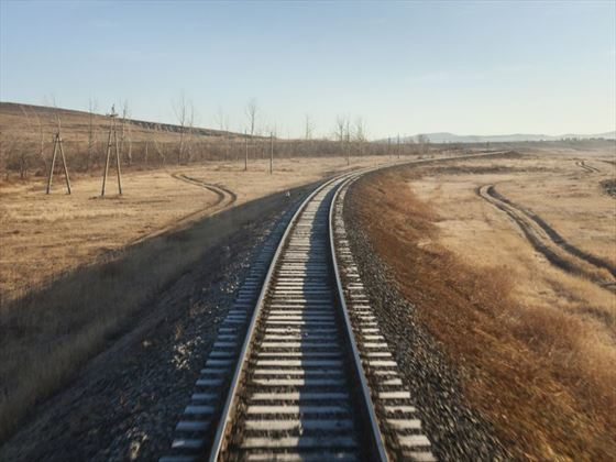 Trans Siberian Railway through Mongolia