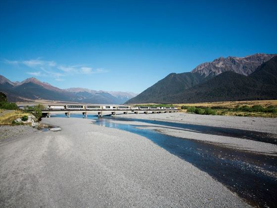Journey over the Waimakariri Bridge
