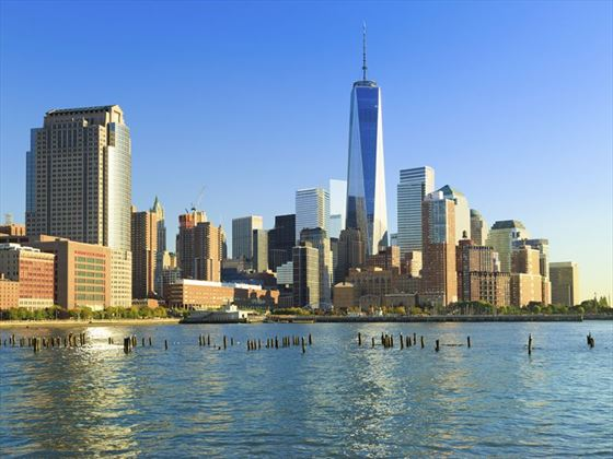 Tribeca and Freedom Tower views from the Hudson River
