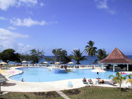 The pool at Turtle Beach Tobago by Rex Resorts