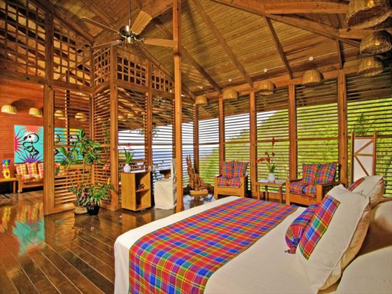 Typical bedroom at Anse Chastanet