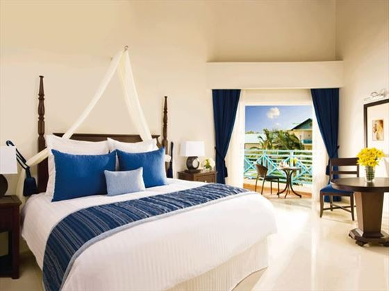 Typical bedroom at Dreams La Romana