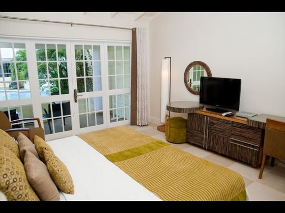 Typical bedroom at Island Inn Boutique Hotel