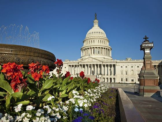 United States Capitol in late spring
