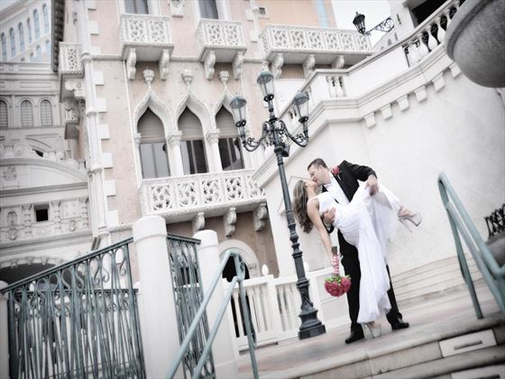 Wedding couple at The Venetian Resort
