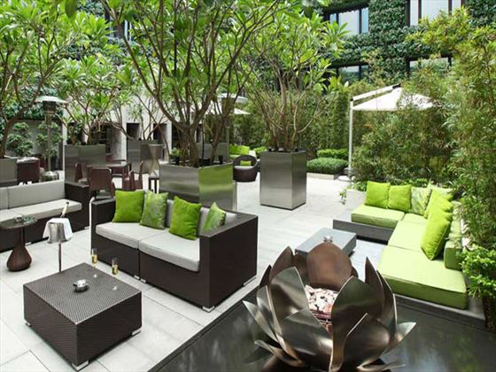 Vibes outdoor terrace at The Mira Hong Kong Kowloon