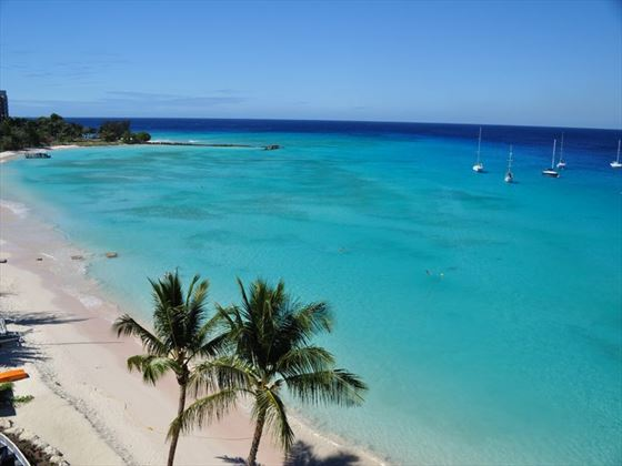 Beach views from the Radisson Aquatica Resort
