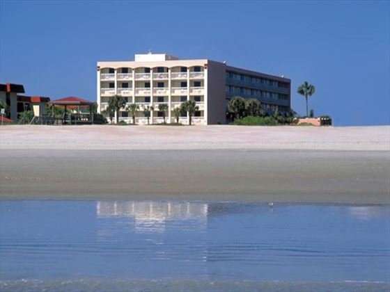 View from the beach at Holiday Isle Oceanfront Resort