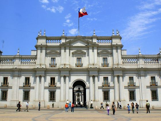 View of Santiago architecture