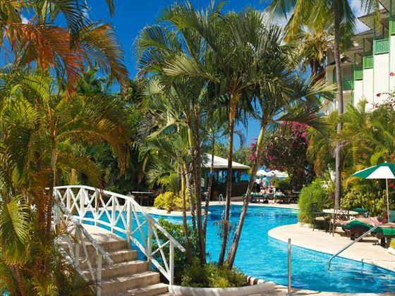 view of the main pool at mango bay