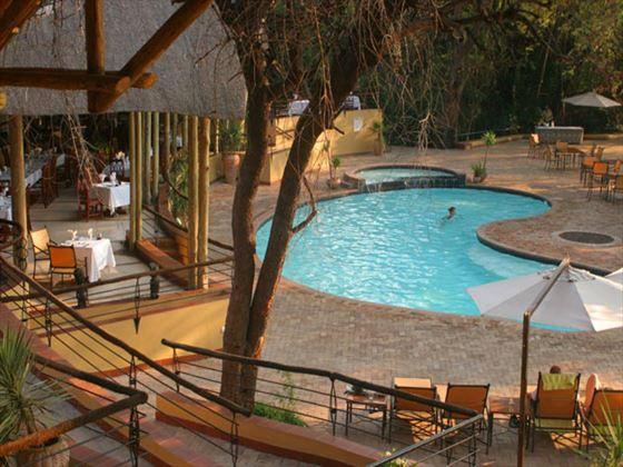 View of the pool at Chobe Safari Lodge