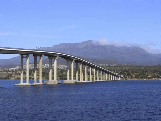 View of the Tasman Bridge