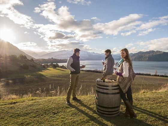 Enjoying the vineyards of Lake Wanaka
