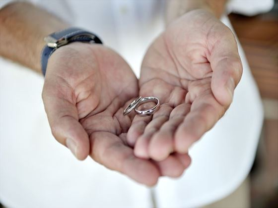 Groom and the wedding rings