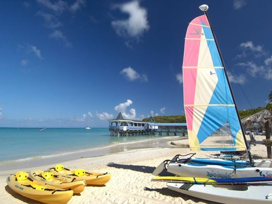 Watersport activities at Halcyon Cove